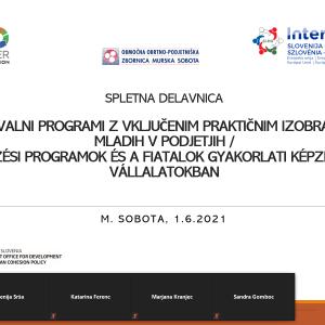 Izvedena delavnica Izobraževalni programi z vključenim praktičnim izobraževanjem mladih v podjetjih-1.6.2021
